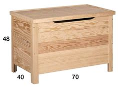 BAUL-70 Baul de madera de pino macizo - BAUL-70 - Muebles Auxiliares - Muebles Astigarraga - Muebles
