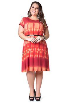 Vestido Habana + Tie Dye - Laranja
