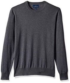 8ab1d8dc1cfe Beautiful BUTTONED DOWN Men s Supima Cotton Lightweight Crewneck Sweater  Mens Fashion Clothing.   49