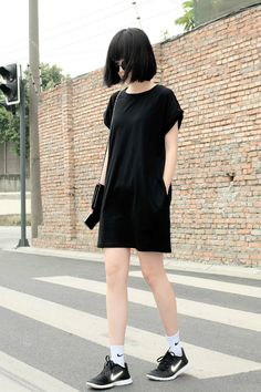 Asian street style  black outfits