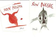 Etiquetas de la Bodega An Negra Viticultors. Obras de Miquel Barcelo