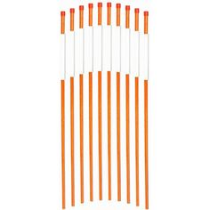 Durable Flexible 5//16 inch Visible Pack of 25 Landscape Rods 48 inches long