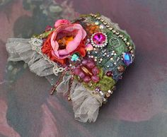 Juliette cuff bold cuff with antique laces by FleursBoheme on Etsy