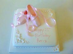Ballet shoe novelty cake