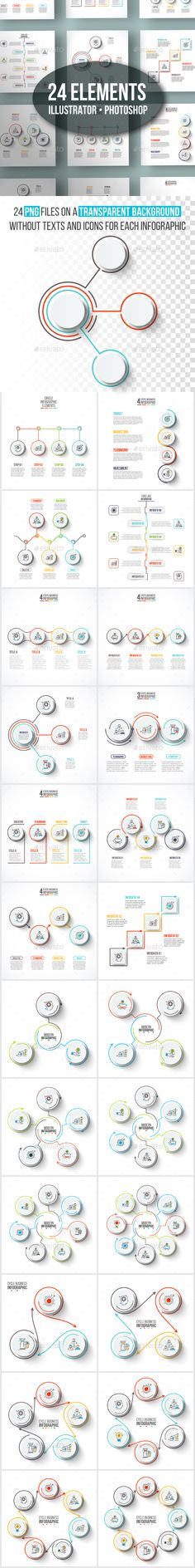 Clean infographic Template Pack - PSD, Vector EPS, AI Illustrator