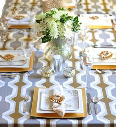 gold and silver #tablescape #tablescape  #tablescape #love  #wedding #wedding   #eleganttablescape  #tablescape #weddingtablescape #dinnerparty #partyideas #roses #goblets #stemware #flowers #tables #chairs #white #gold #napkins #placesetting #silverware #flatware #china #finedining #candles #elegant #holidaytablescape #weddingreception #reception #wedding #flowers