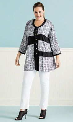 Sonia Tunic / MiB Plus Size Fashion for Women / Summer Fashion http://www.makingitbig.com/product/5286