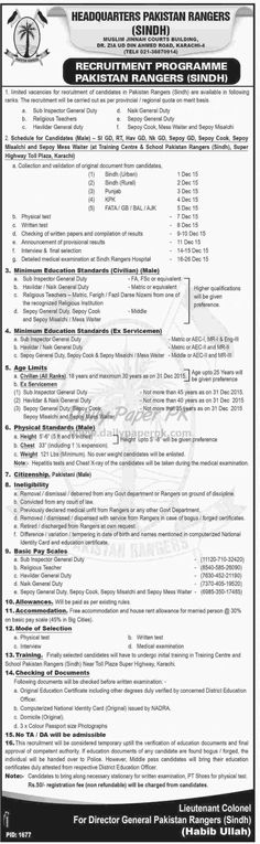 Security Forces Jobs Recruitment Programme Pakistan Rangers Sindh Karachi For #jobs detail and how to apply: #paperpk http://www.dailypaperpk.com/jobs/243936/security-forces-jobs-recruitment-programme-pakistan-rangers-sindh-karachi