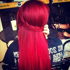 my dream hair color =/ My Hairstyle, Pretty Hairstyles, Braided Hairstyles, Red Hairstyles, Hairstyles Pictures, Love Hair, Gorgeous Hair, Corte Y Color, Dye My Hair