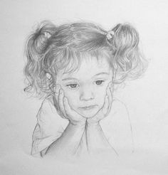 Beautiful pencil drawing portrait of Zoe by artist Anna Bregman