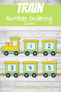 All aboard! This awesome train number sequencing game is a great hands on way for your children to practice ordering the numbers from 1-10. This math printable is also a super way to develop those number recognition, number ordering and fine motor skills. Grab the printable math game over at Nurtured Neurons! #trains #transporttheme #preschoolmath #mathgames #kindergartenmath #mathactivities #learningthroughplay #kindergarten Preschool Math, Kindergarten Math, Activities For Kids, Printable Math Games, Ordering Numbers, Number Games, Number Recognition, Learning Through Play
