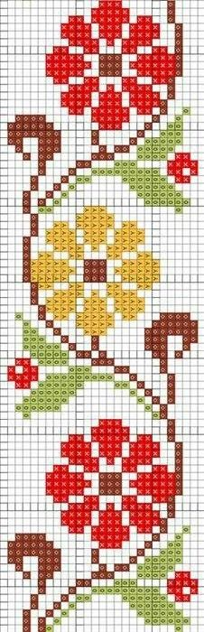 Cross Stitch Bookmarks, Cross Stitch Borders, Simple Cross Stitch, Cross Stitch Rose, Cross Stitch Animals, Cross Stitch Flowers, Cross Stitch Charts, Cross Stitch Designs, Cross Stitching