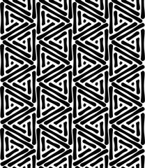 Vector modern seamless geometry pattern triangle, black and white abstract geometric background triangles, pillow print, monochrome retro texture, hipster fashion design