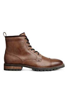 Ботинки на грубой подошве - Коньячный - Мужчины | H&M RU 1