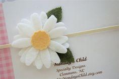 Felt Flower Headband - Felt Headband, Newborn Headband, Baby Headband, Toddler Headband, Girls Headband on Etsy, $6.95