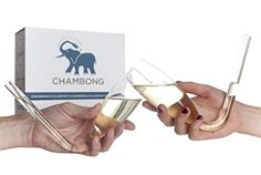Chambong (2-pack) - Glassware for rapid Champagne consumption - http://freebiefresh.com/chambong-2-pack-glassware-for-rapid-review/