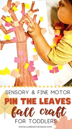 5 Sensory and Fine Motor Fall Crafts for Toddlers — Lorena & Lennox Bilingual Beginnings Toddler Preschool, Toddler Crafts, Toddler Activities, Sensory Activities, Kids Crafts, Motor Activities, Sensory Play, Fall Crafts For Toddlers, Importance Of Art