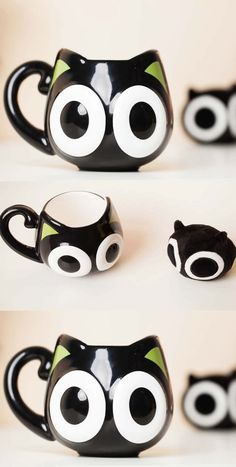 Cute Kitty Cat Coffee Cup