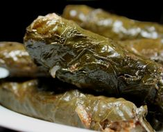 (or Dolmades) Stuffed Grapeleaves! My absolute favorite Mediterranean food. This is the vegetarian version.beef is also delicious!) some like lamb. Armenian Recipes, Lebanese Recipes, Greek Recipes, Armenian Food, Lithuanian Food, Croatian Recipes, Hungarian Recipes, Vegetarian Recipes, Cooking Recipes