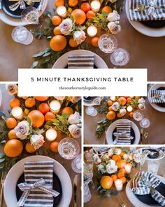 5 minute #thanksgiving #tablescape that you can make no matter where you are celebrating Thanksgiving!