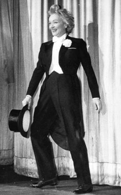 Marlene Dietrich takes a curtain call. - Berlin, 1960
