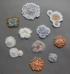 Elin Thomas' crocheted mold and lichens.