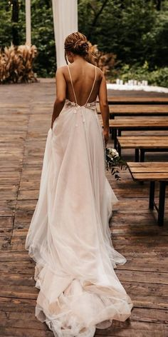 27 Awesome Simple Wedding Dresses For Cute Brides ❤ simple wedding dresses a line backless with spaghetti straps with train bondarenkophoto ❤ wedding dresses givenchy 27 Awesome Simple Wedding Dresses For Cute Brides Cold Shoulder Wedding Dress, Wedding Dress For Short Women, Dream Wedding Dresses, Wedding Gowns, Wedding Dress Backless, Boho Beach Wedding Dress, Wedding Dress Simple, Full Figure Wedding Dress, Short Bride