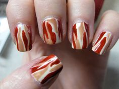 bacon nails ... incentive to start biting your nails again.