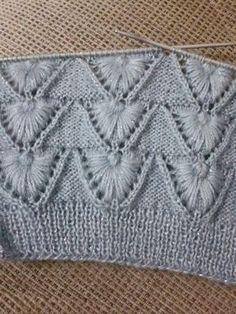 Knitted vest pattern for ladies - Crochet Clothing 2019 - 2020 Lace Knitting Patterns, Knitting Stiches, Knitting Charts, Easy Knitting, Knitting Designs, Crochet Stitches, Stitch Patterns, Knit Crochet, Diy Crafts Knitting