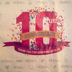 Ebay designs on all their packaging when they turned sweet 10. It is really great that an online shopping company turned 10 that too with a very good reputation and name. Ebay is one of the best and I love to prefer it. Happy 10th birthday Ebay!! Note: Ebay 10th birthday isn't today. I captured this long time back and am posting this now!! @ebayindia and @ebay hope you like this shot of mine!! #ebay #ebaydotin #ebaydotcom #ebayinternational #international #onlineshopping #packaging #design…