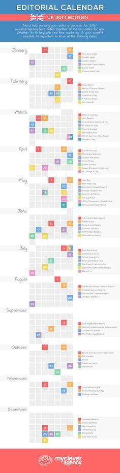 UK Editorial Content Calendar: 2014 Edition [#Infographic]