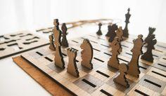 Got Chess? Laser Cut Flat-Pack Chess Set by Peter Baeten