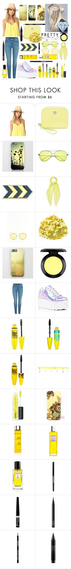 """📁"" by georgyana7770 ❤ liked on Polyvore featuring Hat Attack, Versace, Anya Hindmarch, Chan Luu, MAC Cosmetics, Y.R.U., Maybelline, Versus, Anne Semonin and Rodin Olio Lusso"