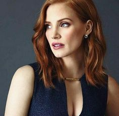 Jessica Chastain Is Unrecognizable with Magenta Hair