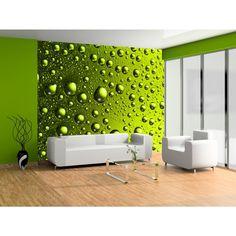 Verde succoso su un fotomurale - decorazione morale davanti a cui non si può passare indifferenti #fotomurali #verde #home #decor #fotomurale #wallpapers