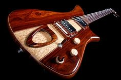 Becker Guitars Roller Custom in Cocobolo. Guitar Body, Guitar Art, Music Guitar, Cool Guitar, Acoustic Guitar, Unique Guitars, Custom Guitars, Vintage Guitars, Guitar Collection