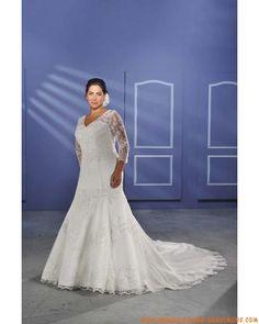 Tüll sexy und meerjungfrauförmige Semi-Kapelleschleppe 2012 Brautkleider für große Größen