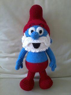Amigurumi Smurfs and Images - Crochet Patterns Amigurumi, Amigurumi Doll, Crochet Dolls, Crochet Stitches, Amigurumi Tutorial, Cute Crochet, Crochet Baby, Crochet Animals, Loom Knitting
