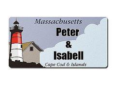 Massachusetts USA Dekoschild mit Wunschtext bedruckt - Hausnummern und Schilder online kaufen