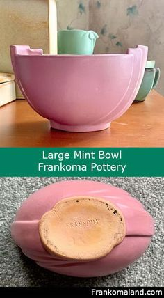 Buy and sell collectible Frankoma pottery, glaze and clay identification, and chat message board. Dusty Rose, Serving Bowls, Glaze, Mint, Pottery, Tableware, Enamel, Peppermint, Ceramics