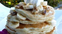 Crowd pleasing banana pancakes made from scratch. A fun twist on ordinary pancakes.