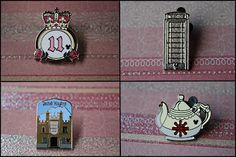 United Kingdom Hidden Mickey Pin Collection