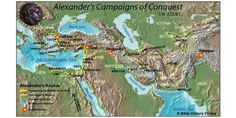 WK 29 - Map of Alexander the Great - Decisive Battles (Bible History Online) Alexander The Great Biography, Ancient Art, Ancient History, Bible Mapping, Babylon The Great, History Page, History Online, Susa, Greece Islands