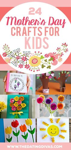 Mother's Day gifts are so much more special when they come from my kids! These Mother's Day Crafts for kids are fabulous!! www.TheDatingDiva...
