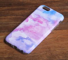 Watercolor Painting Pastel iPhone 6 case. New Dual Layer 3D wrap iPhone tough case comes with a full case, composed...