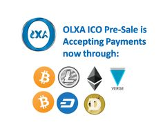 You asked for it! We did it!  OLXA ICO Pre-Sale is accepting now @BitCoinCash #BCH and @vergecurrency #XVG as payment methods at https://www.OlxaCoin.com/shop   OLXA is a New Direction in the Cryptocurrency and Blockchain Technology  Thank you for being one of our global supporters,   Keep tuned for more news   OLXA Team