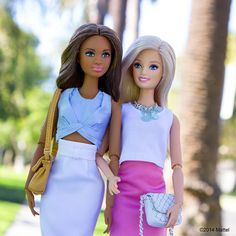 Arm-in-arm with my BFF, we're ready for the weekend, TGIF!  #barbie #barbiestyle