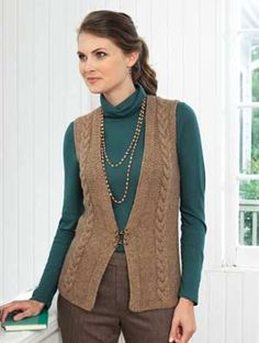 CABLED VEST YARN PACK