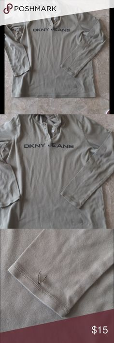 DKNY JEANS HOODY Small cut on left wrist area. See pics, super soft and light cotton material. Tops Sweatshirts & Hoodies