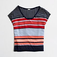 Extremely comfortable and versatile.. J.Crew Factory Stripe Dolman-Sleeve Tee
